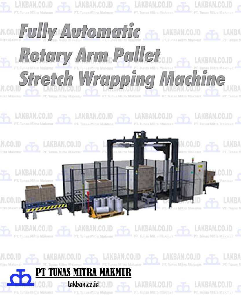 Jual Fully Automatic Rotary Arm Pallet Stretch Wrapping Machine
