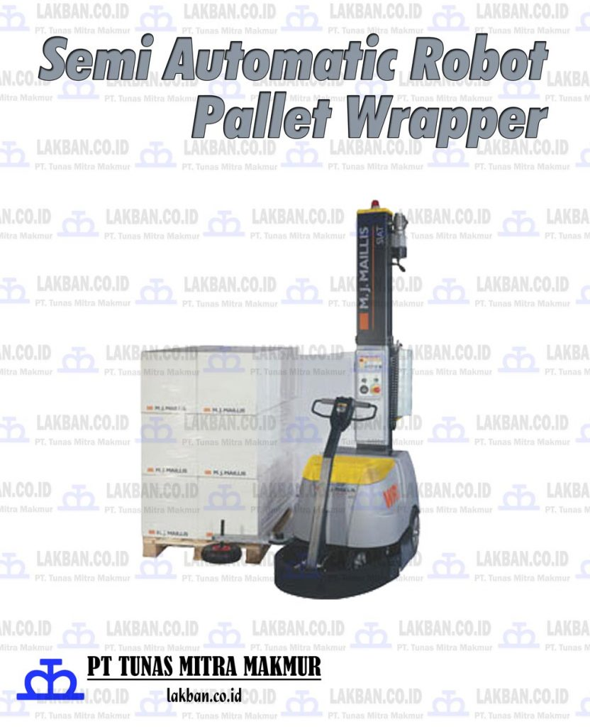 Jual Semi Automatic Robot Pallet Wrapper
