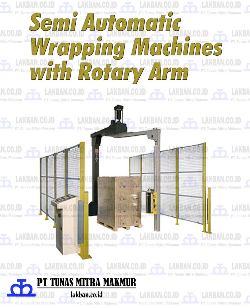 Jual Semi Automatic Wrapping Machines dengan Rotary Arm